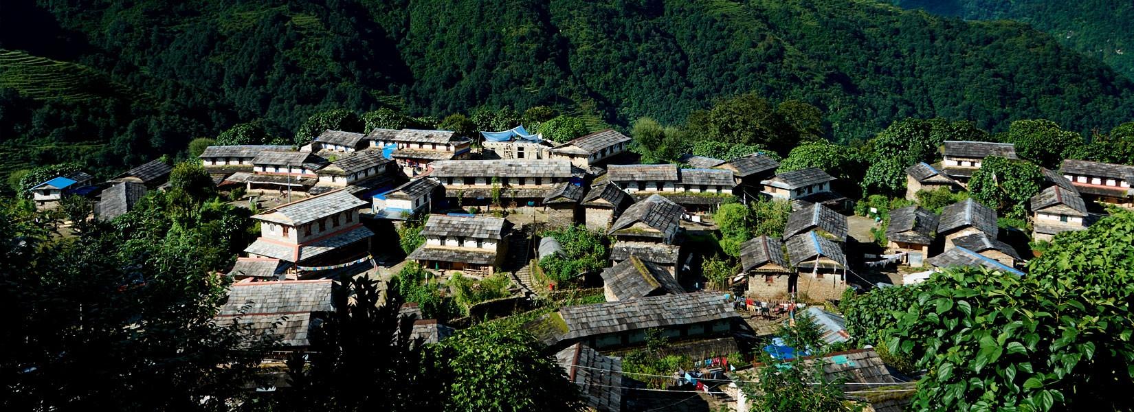 The cultural Village of Ghandruk